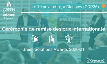 Cérémonie internationale de remise des prix Green Solutions Awards 2020-21