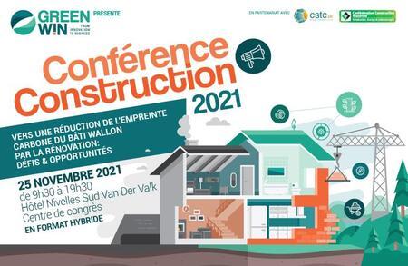 Conférence Construction 2021 de GreenWin: Vers une réduction de l'empreinte carbone du bâti wallon par la rénovation
