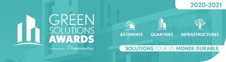 Green Solutions Awards 2020-2021 :  découvrez les projets belges et votez !