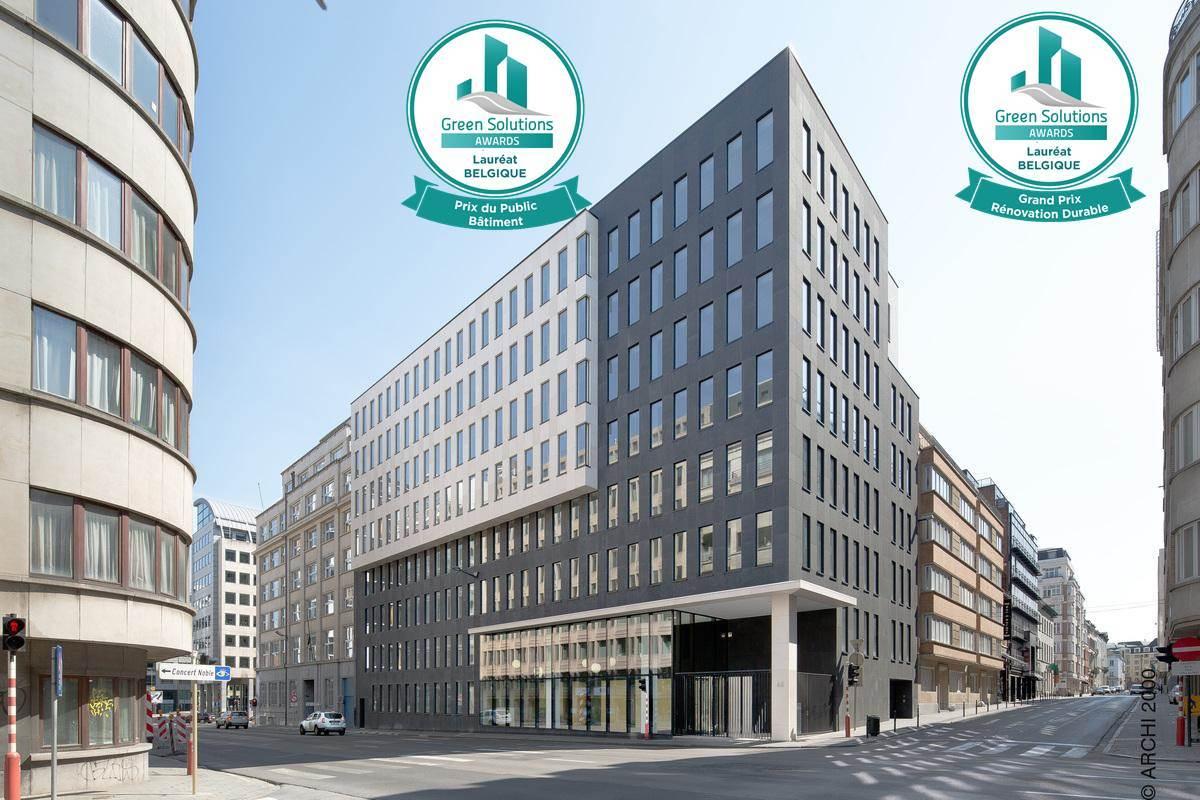 Société Générale De Rénovation Batiment Bruxelles green solutions awards 2018 - buildings - construction21