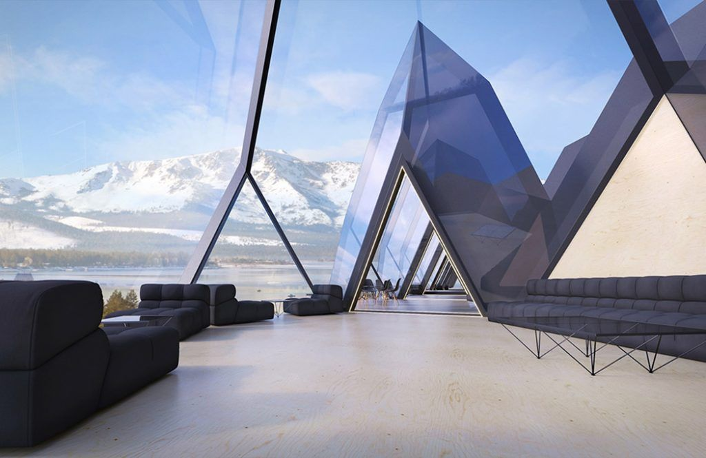 Futuristic Hotel Features Space And Energy Efficient Pods