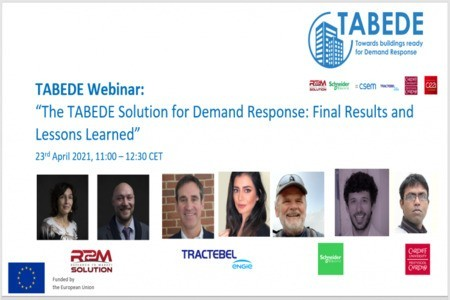 [Webinar] The TABEDE Solution for Demand Response: final results and lessons learned