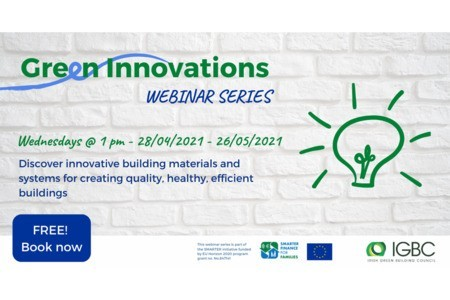 [Webinar Series] Green Innovations Webinar Series – Smarter/IGBC