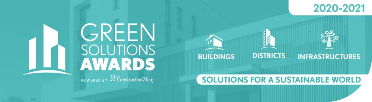 Green solutions awards 2020-2021 powered by Construction21