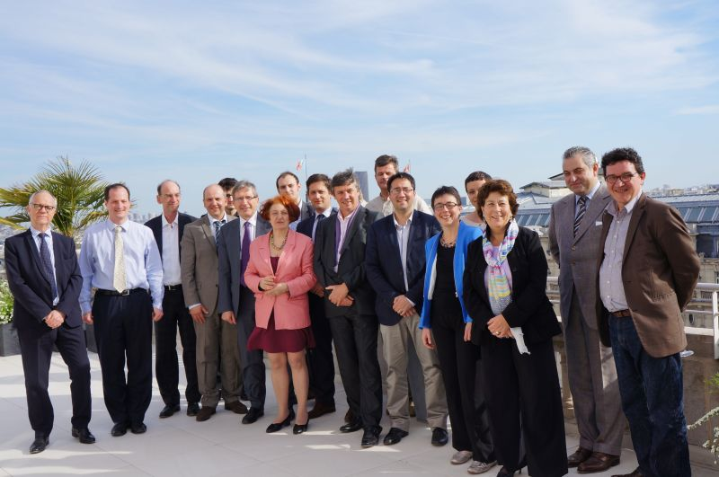 les membres fondateurs de Construction21 France lors de la création de l'association, le 17 avril 2013