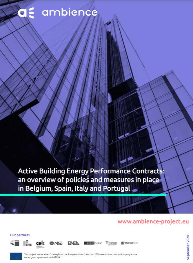 Active Building Energy Performance Contracts: an overview of policies and measures in place in Belgium, Spain, Italy and Portugal