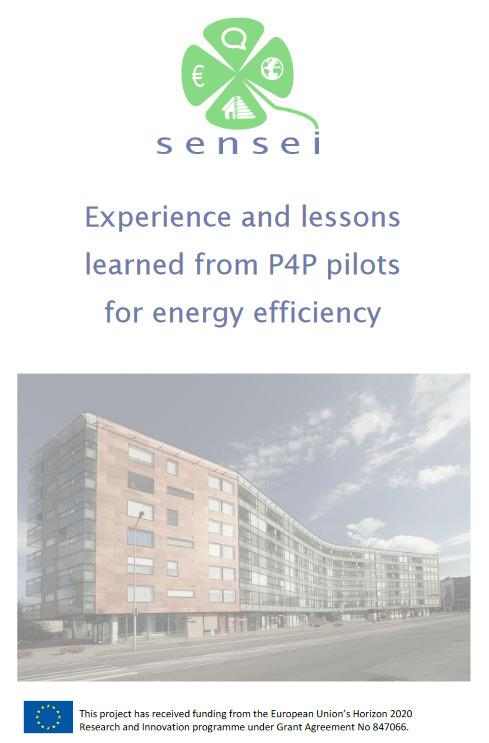 Experience and lessons learned from P4P pilots for energy efficiency: new report from H2020 SENSEI