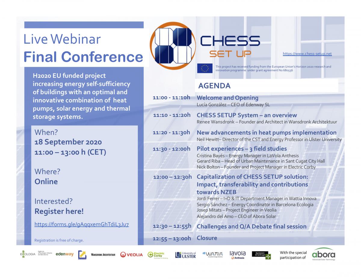 Agenda Online Conference CHESS SETUP