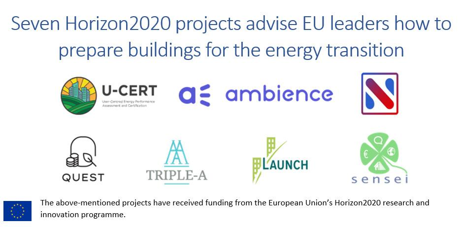 7 H2020 projects partner up to advise EU leaders how to prepare buildings for the energy transition