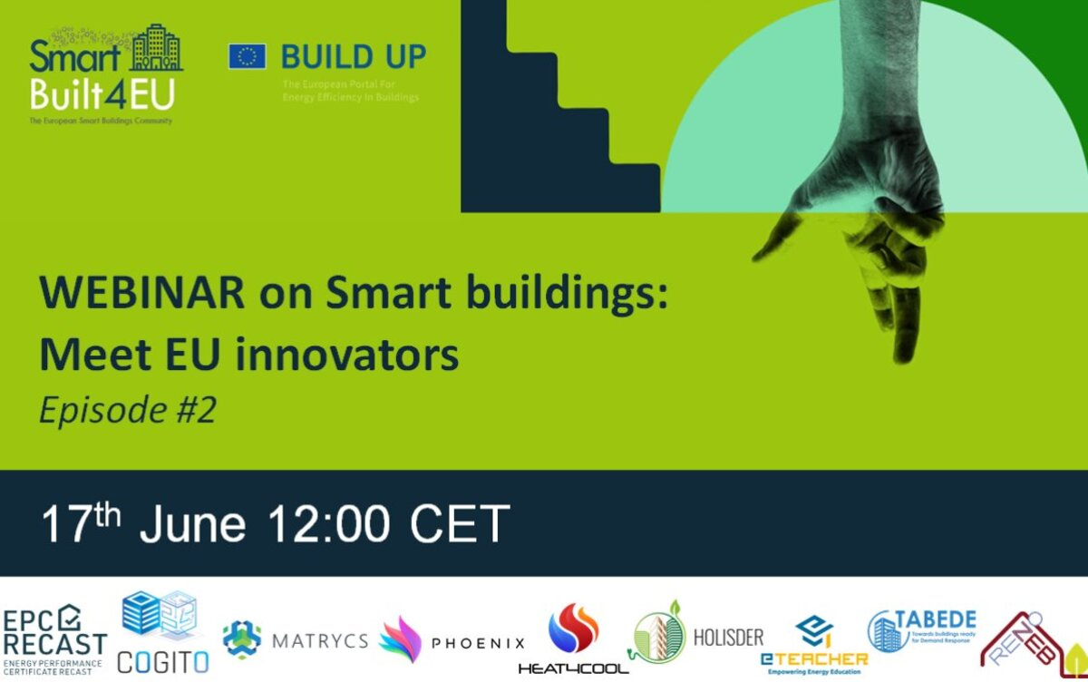 Smart Building: Meet EU innovators # episode2 of SmartBuilt4EU webinars