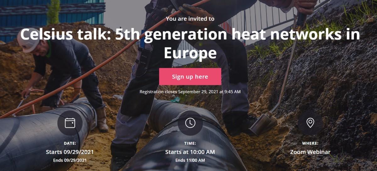 [Webinar] Celsius talk : 5th generation heat networks in Europe