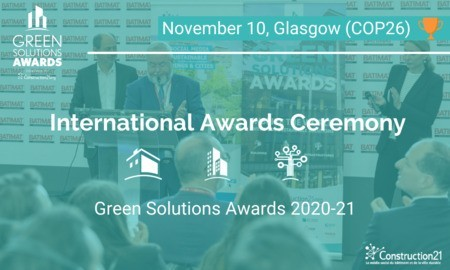 [Invitation] Register for the international ceremony of the Green Solutions Awards 2020-21 on November 10, in Glasgow, COP26