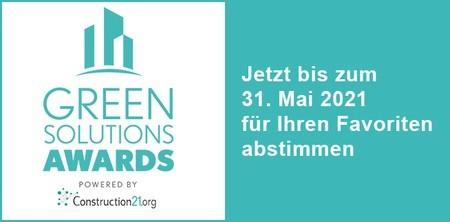 Die Teilnehmer der Green Solutions Awards 2020-21 stehen fest: international mehr als 190 Projekte