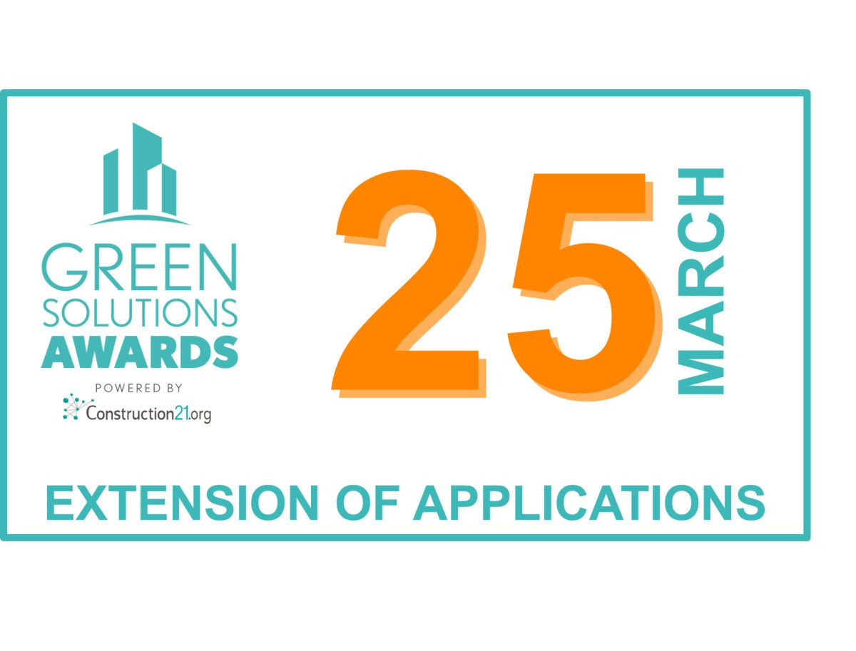 [Neues Datum] 25 März: 10 weitere Tage, für Ihre Bewerbung bei den Green Solutions Awards