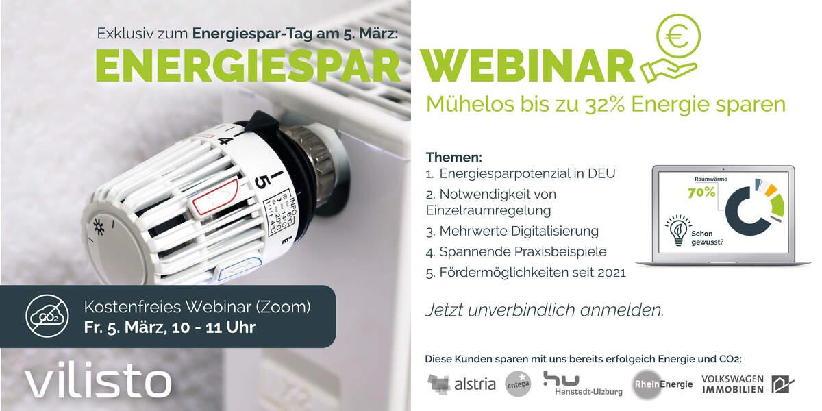 Exklusives Energiespar-Webinar zum Energiespar-Tag am 5. März