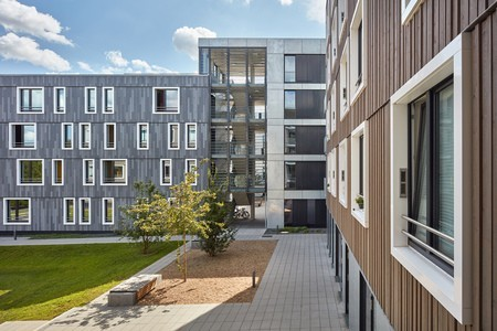 Wood hybrid construction: 258 new living spaces in passive house standard - Variowohnen Bochum