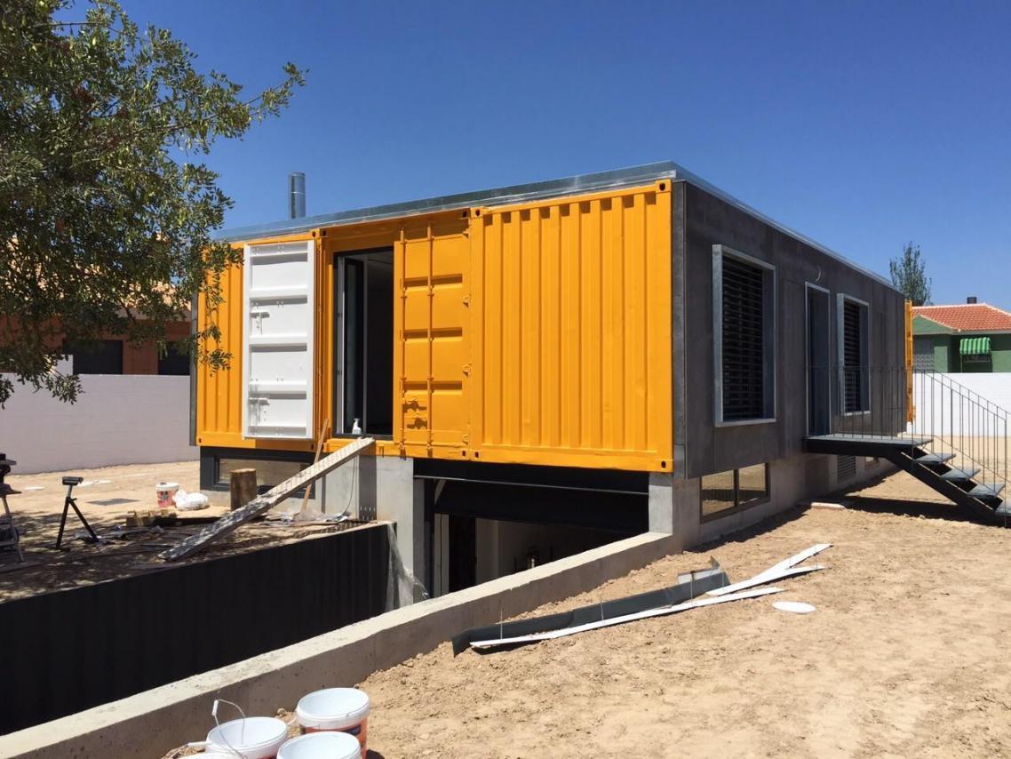 Vivienda con contenedores mar timos en mutxamel construction21 - Viviendas de contenedores ...