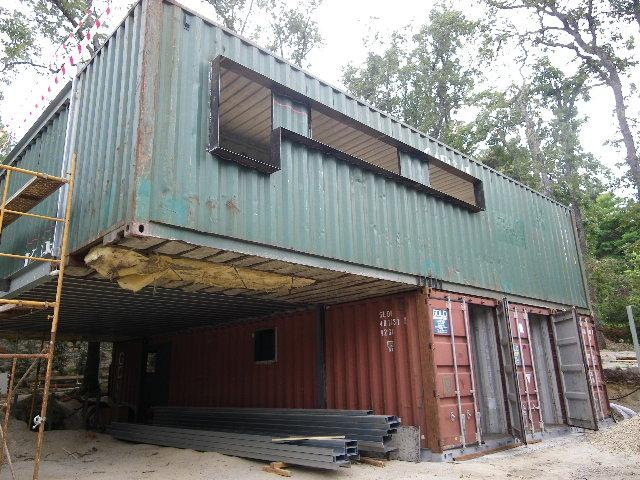 Reused sea container house construction21 - Casa container espana ...