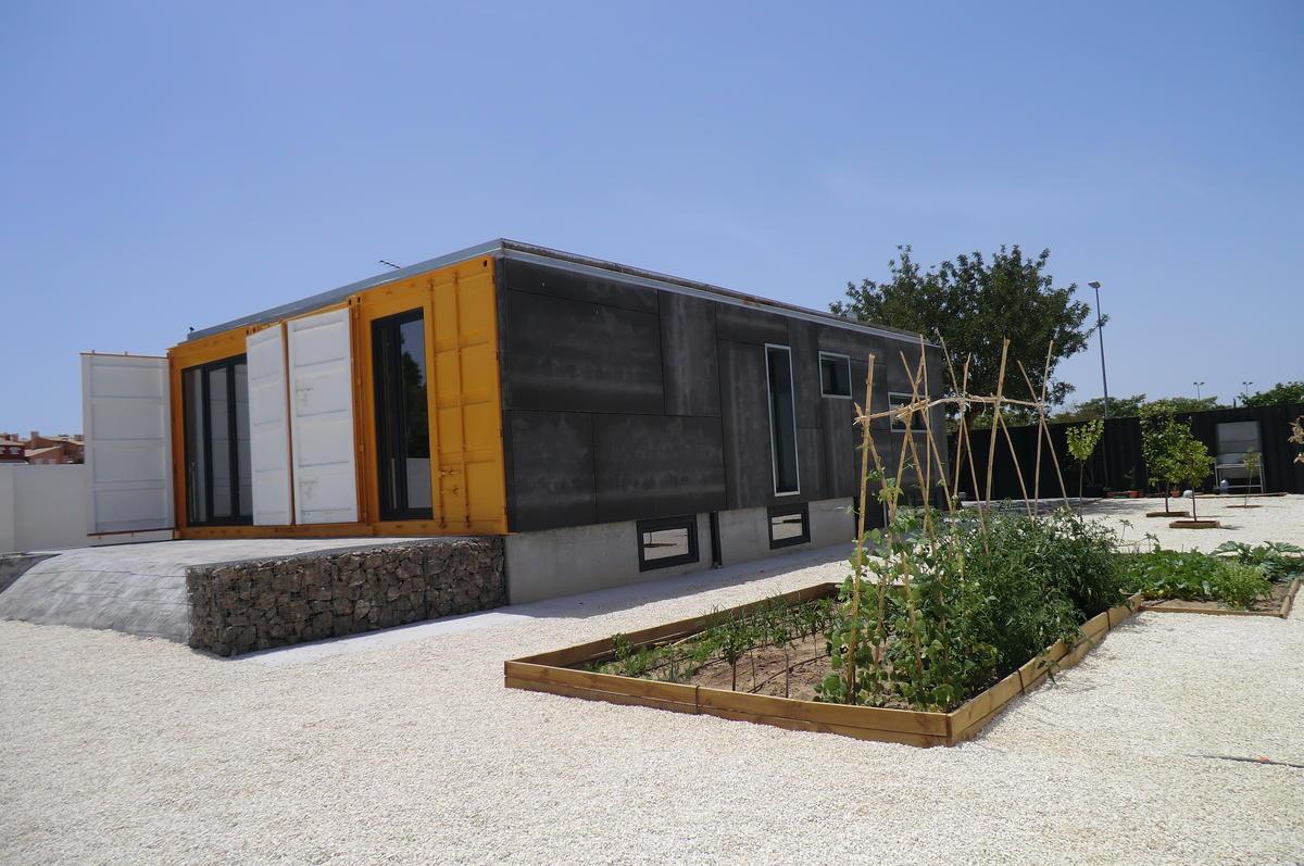 Vivienda con contenedores mar timos en mutxamel construction21 - Casa contenedor maritimo precio ...