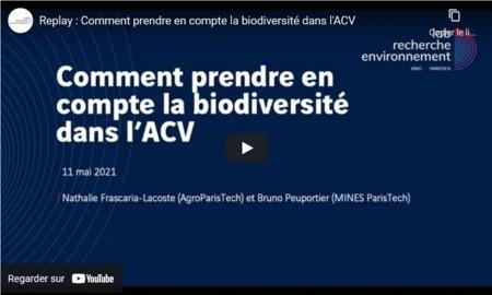 Replay : Comment prendre en compte la biodiversité dans l'ACV ?