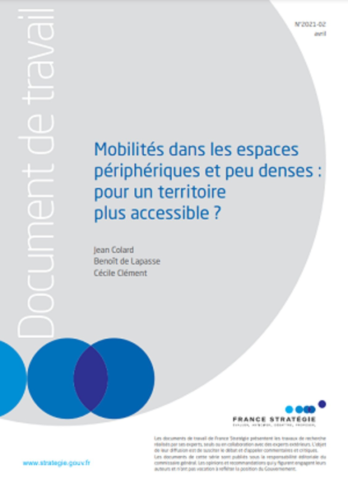 Mobilités dans les espaces périphériques et peu denses : pour un territoire plus accessible ?