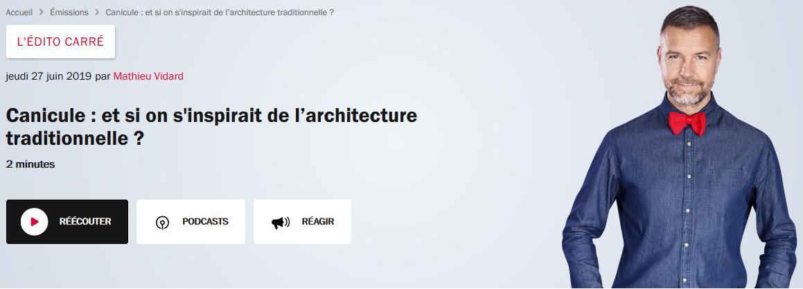 Canicule : et si on s'inspirait de l'architecture traditionnelle ?