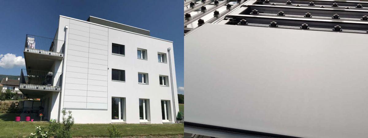 panneau solaire en façade