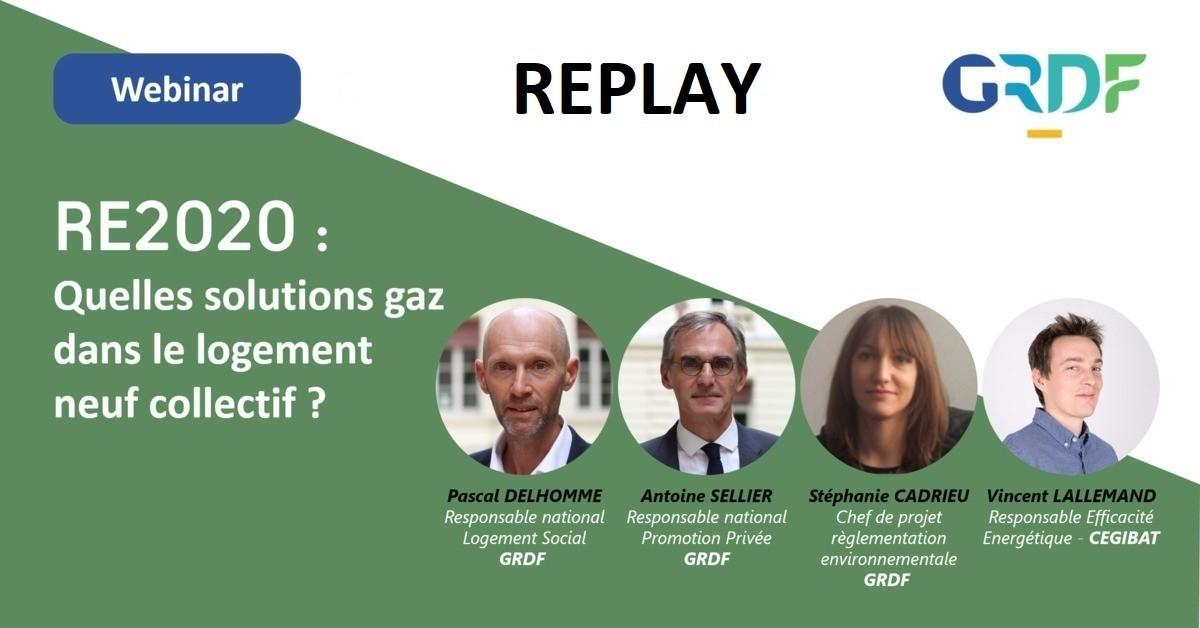 [Replay] RE2020 : Quelles solutions gaz dans le logement collectif neuf ?