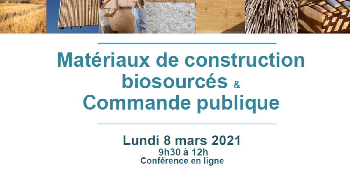 [Webinar] « Matériaux de construction biosourcés et commande publique »