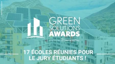 Le concours Green Solutions Awards 2020-21 a réuni 17 écoles pour son jury Etudiants !