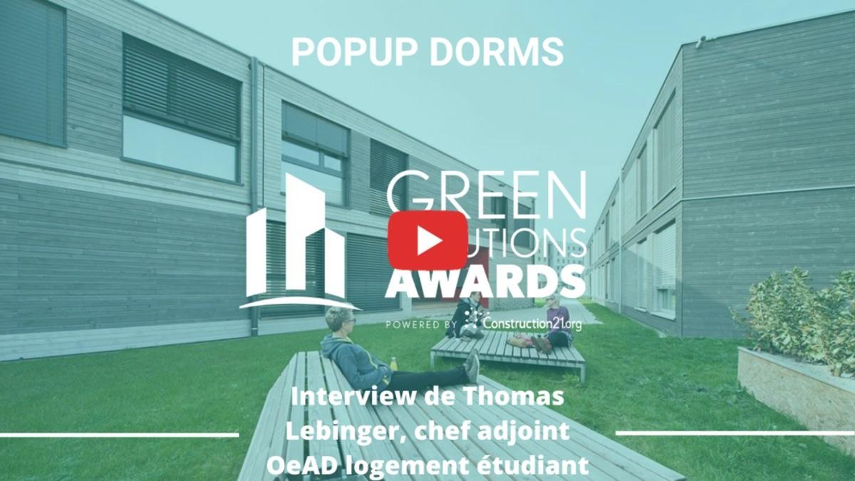 [En vidéo] PopUp Dorms – Une résidence étudiante passive et préfabriquée