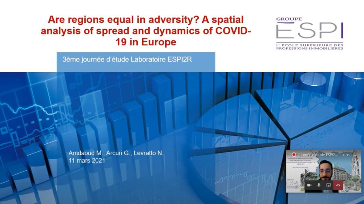 [Replay] #1 Les régions sont-elles égales dans l'adversité ? Une analyse spatiale de la propagation et de la dynamique de la COVID-19 en Europe