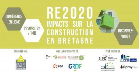 [Webinar] RE2020 – Impacts sur la construction en Bretagne