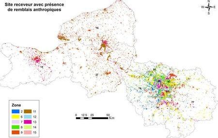 Les sols cartographiés pour valoriser les terres excavées de chantiers