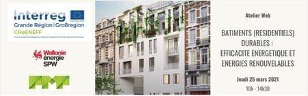 [Webinar] Bâtiments (résidentiels) durables : efficacité énergétique et énergies renouvelables