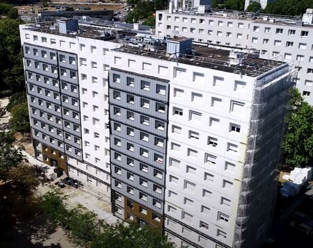Large-scale rehabilitation of 988 social housing units