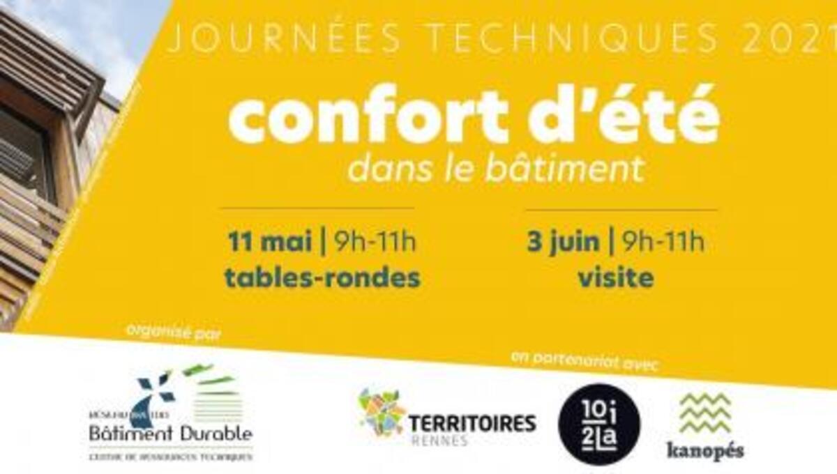 [Webinar] Journée technique dédiée au Confort d'été I Réseau Breton Bâtiment Durable