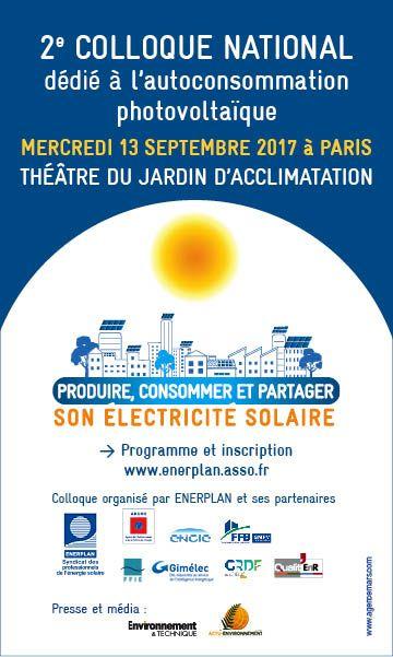 2ème colloque national dédié à l'autoconsommation photovoltaïque