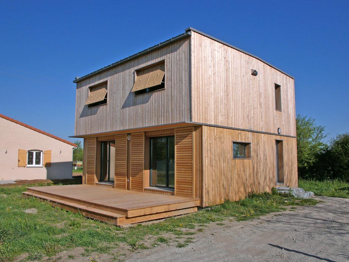 Petite maison moderne petite maison bois moderne toit for Plan petite maison contemporaine