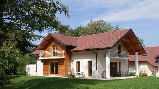 Individual House At The Foot Of The Alps
