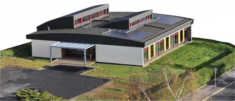 bureaux et hall d 39 exposition du cnidep laxou