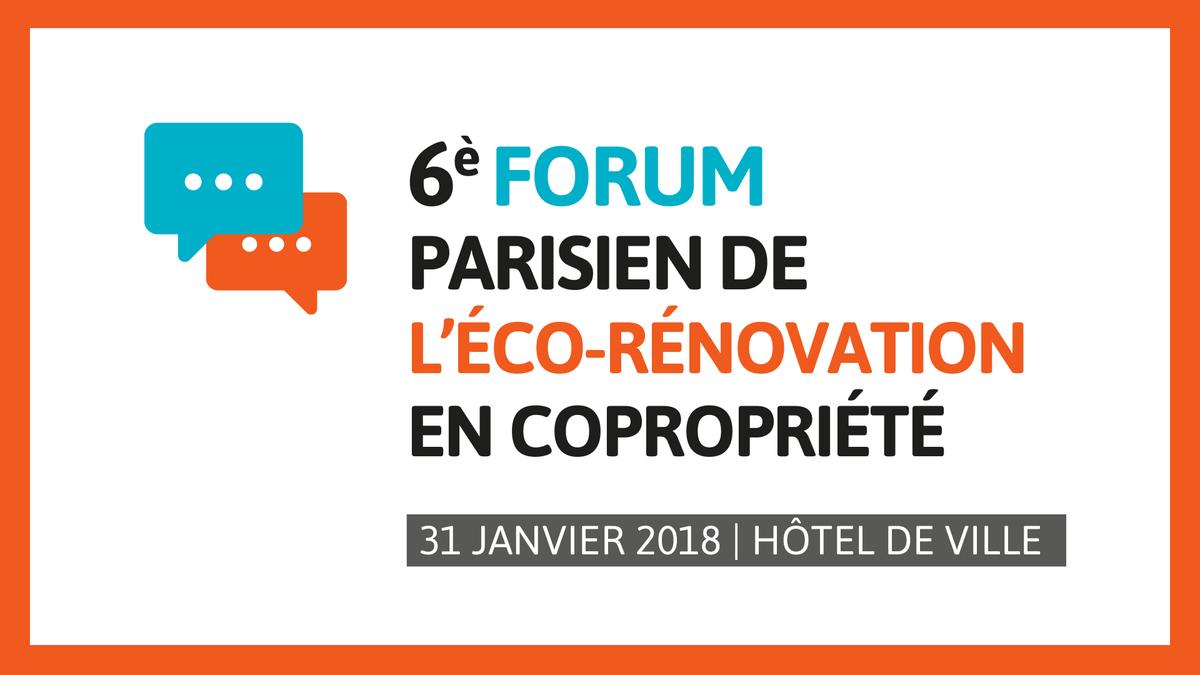 6 me forum parisien de l 39 co r novation en copropri t