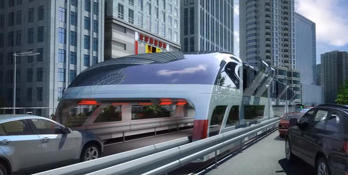 le bus du futur anti pollution et anti bouchon pourrait voir le jour en chine construction21. Black Bedroom Furniture Sets. Home Design Ideas