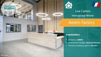 Aerem, positive energy factory, France - Green Solutions Awards 2019 winner