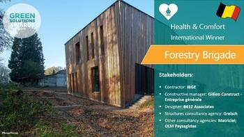 Brigade, passive building integrated into the forest, Belgium - Green Solutions Awards 2019 winner