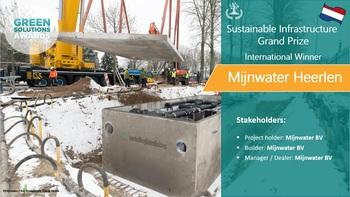 Mijnwater, heating and cooling grid, Netherlands - Green Solutions Awards 2019 Winner