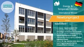 Newtonproject House 1, positive energy collective housing, Germany - Green Solutions Awards 2019 Winner