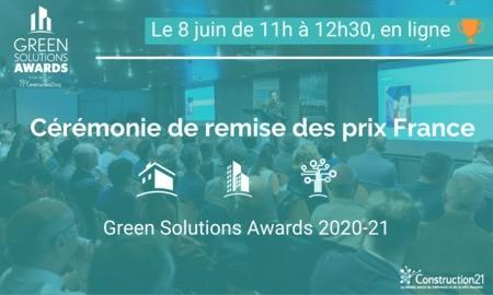 [Save the date] Découvrez en direct les gagnants français des Green Solutions Awards 2020-21 : rdv le 8 juin