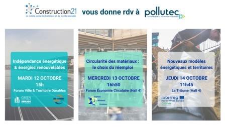 Pollutec 2021 : découvrez le programme de Construction21 sur le salon