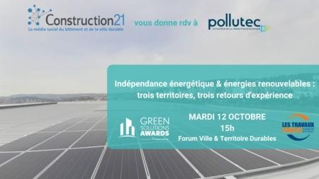 Indépendance énergétique et énergies renouvelables : trois territoires, trois retours d'expérience